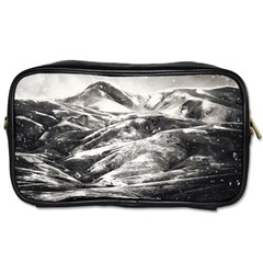 Mountains Winter Landscape Nature Toiletries Bags 2 Side by Celenk
