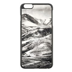 Mountains Winter Landscape Nature Apple Iphone 6 Plus/6s Plus Black Enamel Case by Celenk