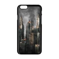 Armageddon Disaster Destruction War Apple Iphone 6/6s Black Enamel Case
