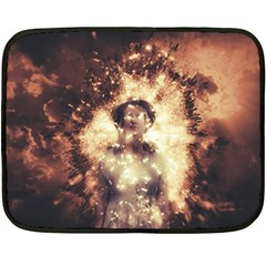 Science Fiction Teleportation Double Sided Fleece Blanket (mini)  by Celenk