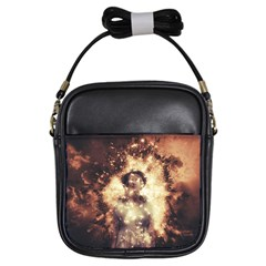 Science Fiction Teleportation Girls Sling Bags by Celenk