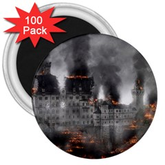 Destruction War Conflict Explosive 3  Magnets (100 Pack) by Celenk