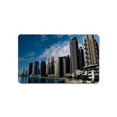 Skyscraper City Architecture Urban Magnet (name Card) by Celenk