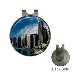 Skyscraper City Architecture Urban Hat Clips With Golf Markers by Celenk
