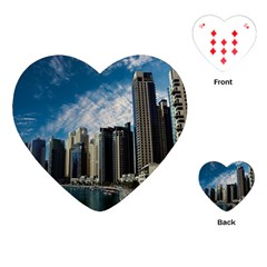 Skyscraper City Architecture Urban Playing Cards (heart)  by Celenk
