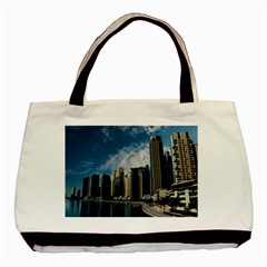 Skyscraper City Architecture Urban Basic Tote Bag by Celenk