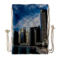 Skyscraper City Architecture Urban Drawstring Bag (large) by Celenk