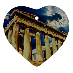 Athens Greece Ancient Architecture Ornament (heart) by Celenk