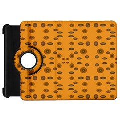 Brown Circle Pattern On Yellow Kindle Fire Hd 7  by BrightVibesDesign