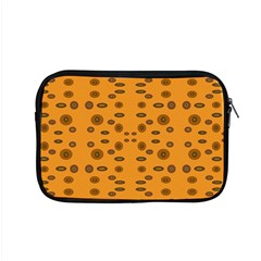 Brown Circle Pattern On Yellow Apple Macbook Pro 15  Zipper Case by BrightVibesDesign