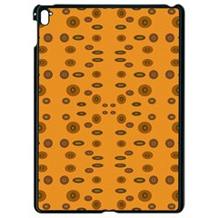 Brown Circle Pattern On Yellow Apple Ipad Pro 9 7   Black Seamless Case by BrightVibesDesign