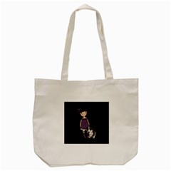 Dolly Girl And Dog Tote Bag (cream) by Valentinaart