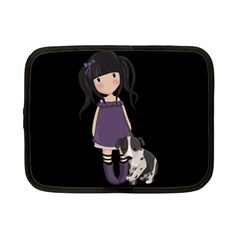 Dolly Girl And Dog Netbook Case (small)  by Valentinaart