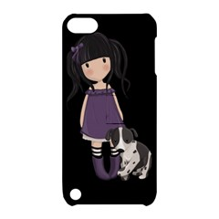 Dolly Girl And Dog Apple Ipod Touch 5 Hardshell Case With Stand by Valentinaart