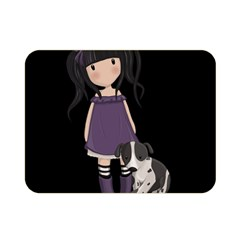 Dolly Girl And Dog Double Sided Flano Blanket (mini)  by Valentinaart