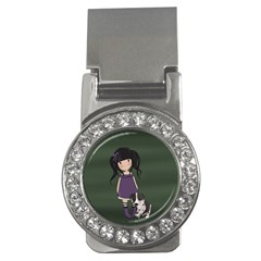 Dolly Girl And Dog Money Clips (cz)  by Valentinaart