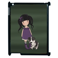 Dolly Girl And Dog Apple Ipad 2 Case (black) by Valentinaart