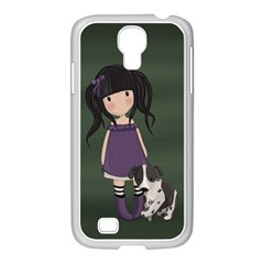 Dolly Girl And Dog Samsung Galaxy S4 I9500/ I9505 Case (white) by Valentinaart