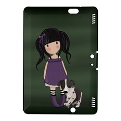 Dolly Girl And Dog Kindle Fire Hdx 8 9  Hardshell Case by Valentinaart