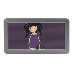 Dolly Girl And Dog Memory Card Reader (mini) by Valentinaart