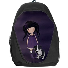 Dolly Girl And Dog Backpack Bag by Valentinaart