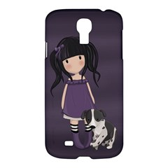 Dolly Girl And Dog Samsung Galaxy S4 I9500/i9505 Hardshell Case by Valentinaart