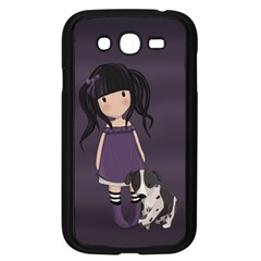 Dolly Girl And Dog Samsung Galaxy Grand Duos I9082 Case (black) by Valentinaart