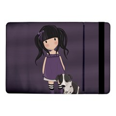 Dolly Girl And Dog Samsung Galaxy Tab Pro 10 1  Flip Case by Valentinaart