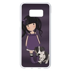 Dolly Girl And Dog Samsung Galaxy S8 Plus White Seamless Case by Valentinaart