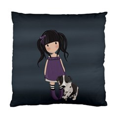 Dolly Girl And Dog Standard Cushion Case (one Side) by Valentinaart