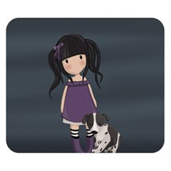 Dolly Girl And Dog Double Sided Flano Blanket (small)  by Valentinaart