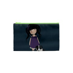 Dolly Girl And Dog Cosmetic Bag (xs) by Valentinaart