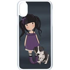 Dolly Girl And Dog Apple Iphone X Seamless Case (white) by Valentinaart