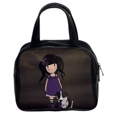 Dolly Girl And Dog Classic Handbags (2 Sides) by Valentinaart