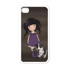 Dolly Girl And Dog Apple Iphone 4 Case (white) by Valentinaart