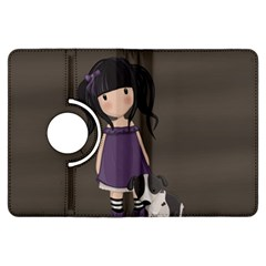 Dolly Girl And Dog Kindle Fire Hdx Flip 360 Case by Valentinaart