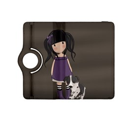 Dolly Girl And Dog Kindle Fire Hdx 8 9  Flip 360 Case by Valentinaart