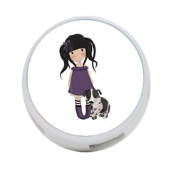 Dolly Girl And Dog 4 Port Usb Hub (two Sides)  by Valentinaart