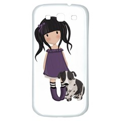 Dolly Girl And Dog Samsung Galaxy S3 S Iii Classic Hardshell Back Case by Valentinaart