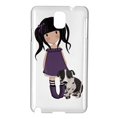 Dolly Girl And Dog Samsung Galaxy Note 3 N9005 Hardshell Case by Valentinaart