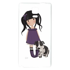 Dolly Girl And Dog Galaxy Note 4 Back Case by Valentinaart