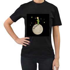 The Little Prince Women s T Shirt (black) by Valentinaart