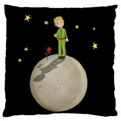 The Little Prince Large Cushion Case (two Sides) by Valentinaart