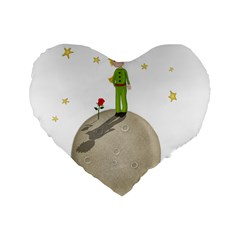 The Little Prince Standard 16  Premium Heart Shape Cushions by Valentinaart
