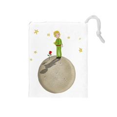 The Little Prince Drawstring Pouches (medium)  by Valentinaart