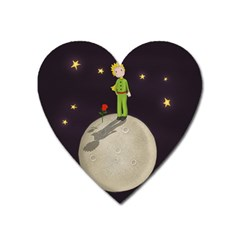 The Little Prince Heart Magnet by Valentinaart
