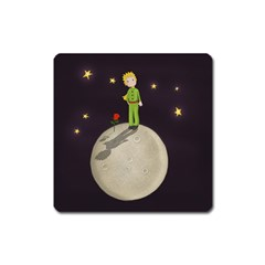The Little Prince Square Magnet by Valentinaart