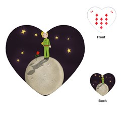 The Little Prince Playing Cards (heart)  by Valentinaart