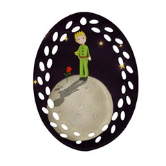 The Little Prince Ornament (oval Filigree) by Valentinaart