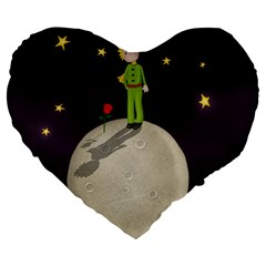 The Little Prince Large 19  Premium Heart Shape Cushions by Valentinaart